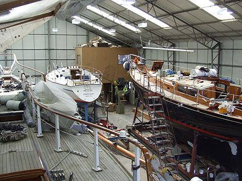 Shotley Marina Boatyard Workshop