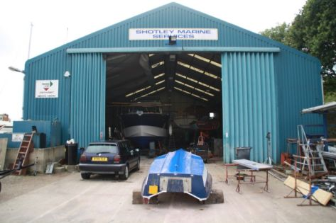 Shotley Marina Boatyard Workshop Outside